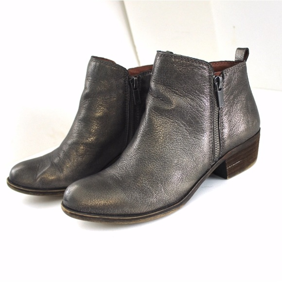 Lucky Brand Shoes - Lucky Brand Metallic Leather Basel Bootie
